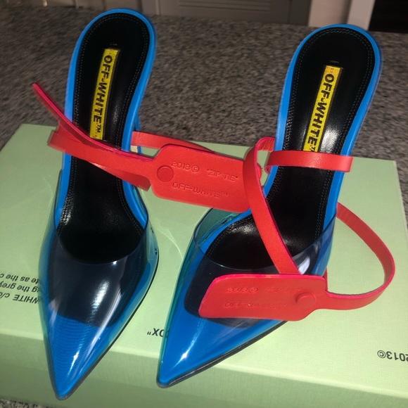 Shoes | Off White Zip Tie Mule | Poshmark